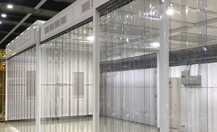 CERN's Concertina Cleanroom in Open Position