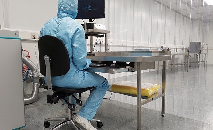 Bespoke stainless steel cleanroom furniture