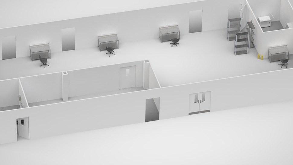 Externe constructie van de cleanroom