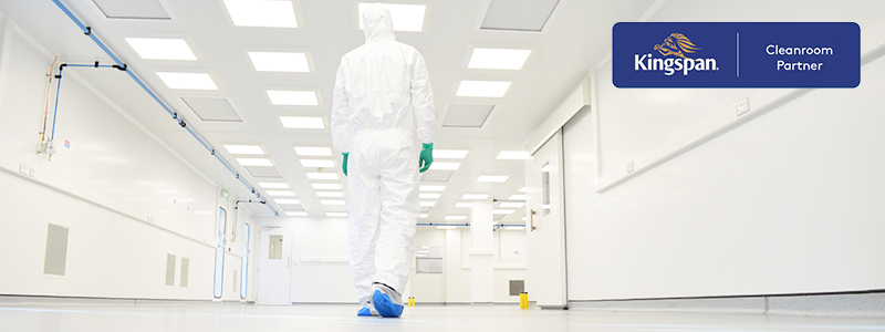 Fully flush monobloc cleanroom with Kingspan panels
