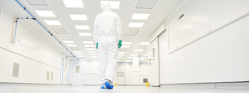 Fully flush monobloc cleanroom with UltraTech panels