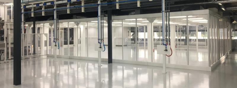 Hardwall cleanroom-oplossing - Productie van medische apparatuur