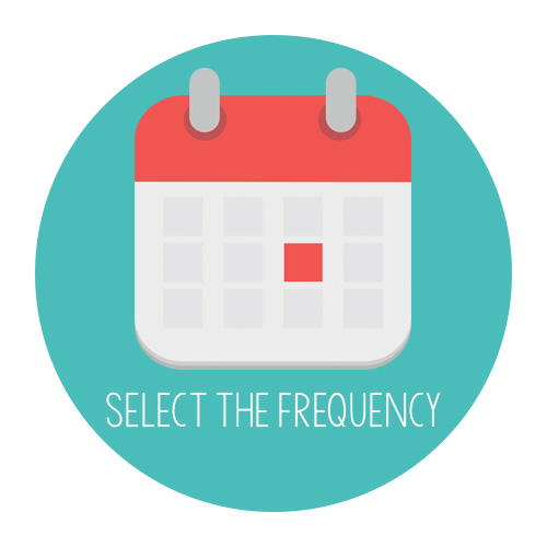 Select the frequency